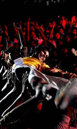 Fans Holding an Artist