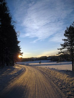 A Road in Umea Sweden
