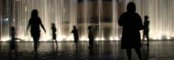 People in Front of Water Fountain - Life