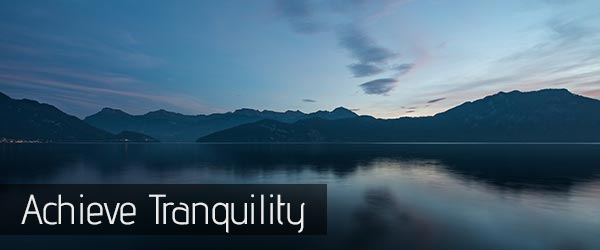 Stop Negative Thoughts - Picture of a Tranquil Lake